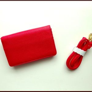 Charming Charlie Red Clutch/ Purse/Valentine's Day